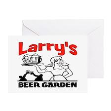 LARRY'S BEER GARDEN Greeting Card