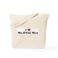 I Love My HVAC Man Tote Bag