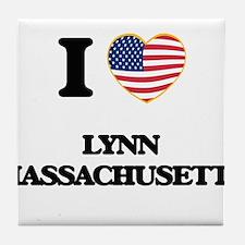 I love Lynn Massachusetts Tile Coaster