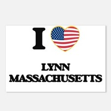 I love Lynn Massachusetts Postcards (Package of 8)