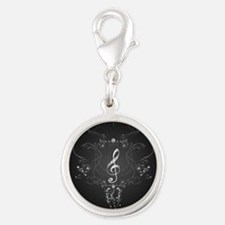 Elegant clef with floral elements Charms