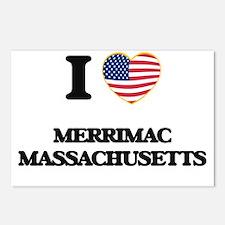 I love Merrimac Massachus Postcards (Package of 8)