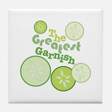 Greatest Garnish Tile Coaster