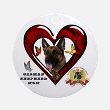 Cute Gsd Round Ornament