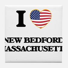 I love New Bedford Massachusetts Tile Coaster