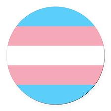 Transgender Pride Flag Round Car Magnet
