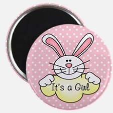 It's A Girl Pink Bunny Magnet