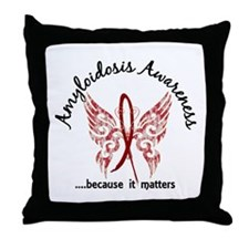 Amyloidosis Butterfly 6.1 Throw Pillow
