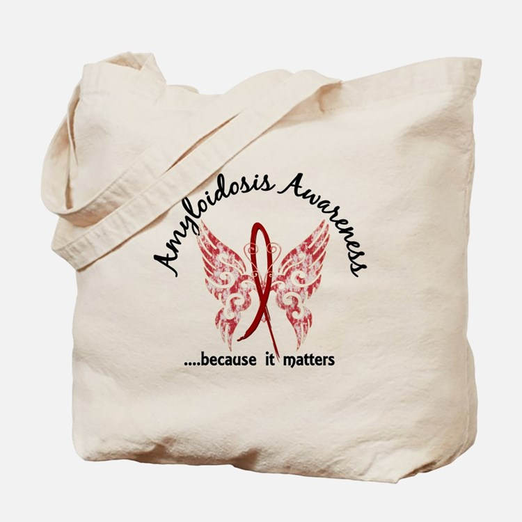 Amyloidosis Butterfly 6.1 Tote Bag