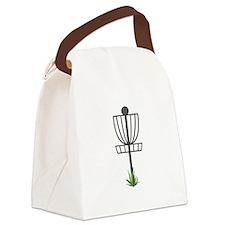 Frisbee Golf Canvas Lunch Bag