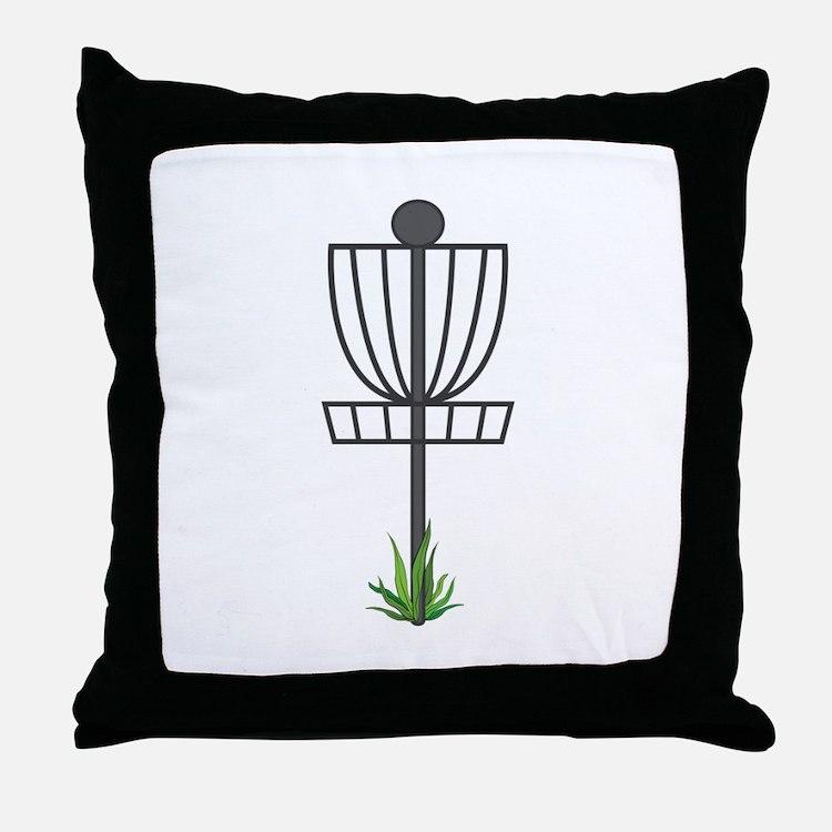 Frisbee Golf Throw Pillow
