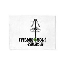 Frisbee Golf Fanatic 5'x7'Area Rug