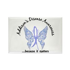 Addison's Disease Butterfly 6.1 Rectangle Magnet
