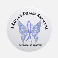 Addison's Disease Butterfly 6.1 Ornament (Round)