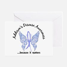 Addison's Disease Butterfly 6.1 Greeting Card
