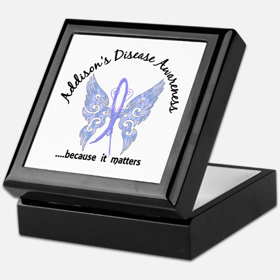Addison's Disease Butterfly 6.1 Keepsake Box