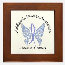 Addison's Disease Butterfly 6.1 Framed Tile