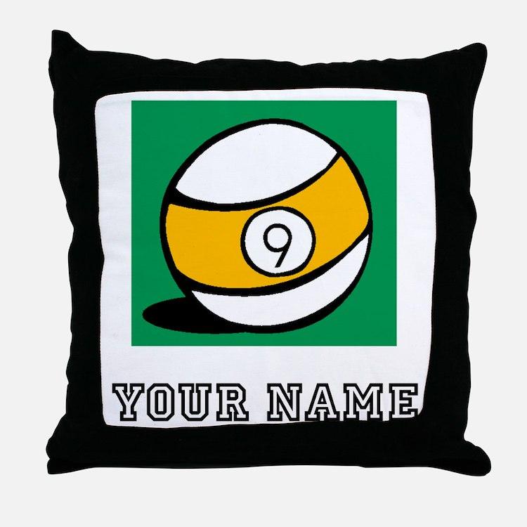 Nine Ball (Custom) Throw Pillow