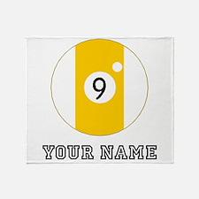 Nine Ball (Custom) Throw Blanket