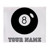 8 ball text Fleece Blankets