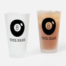 Black Eight Ball (Custom) Drinking Glass