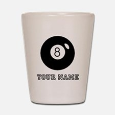 Black Eight Ball (Custom) Shot Glass