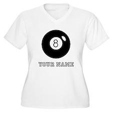 Black Eight Ball (Custom) Plus Size T-Shirt