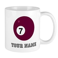 Seven Pool Ball (Custom) Mugs