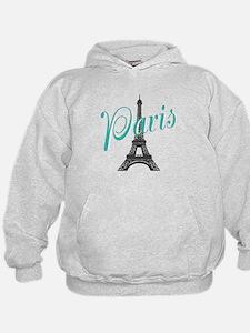 Vintage Paris Eiffel Tower Hoodie