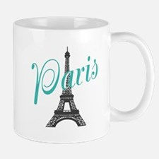 Vintage Paris Eiffel Tower Mugs
