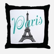 Vintage Paris Eiffel Tower Throw Pillow