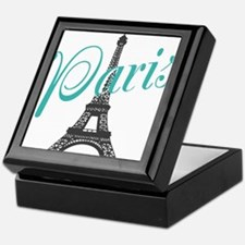 Vintage Paris Eiffel Tower Keepsake Box