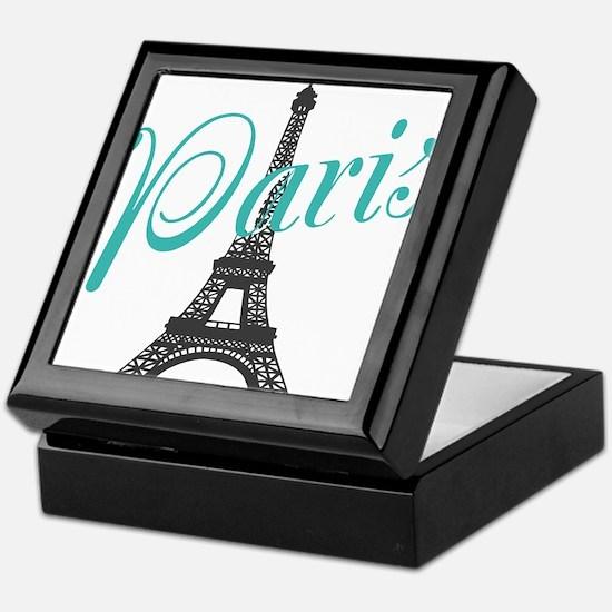 Vintage Paris Eiffel Tower Keepsake Box
