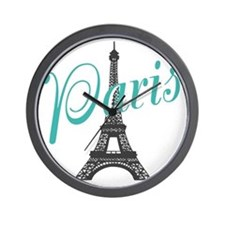 Vintage Paris Eiffel Tower Wall Clock