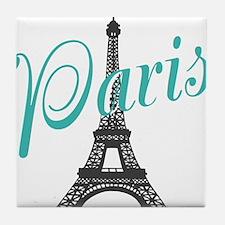 Vintage Paris Eiffel Tower Tile Coaster