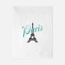 Vintage Paris Eiffel Tower Twin Duvet