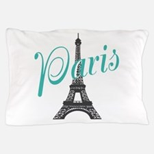 Vintage Paris Eiffel Tower Pillow Case