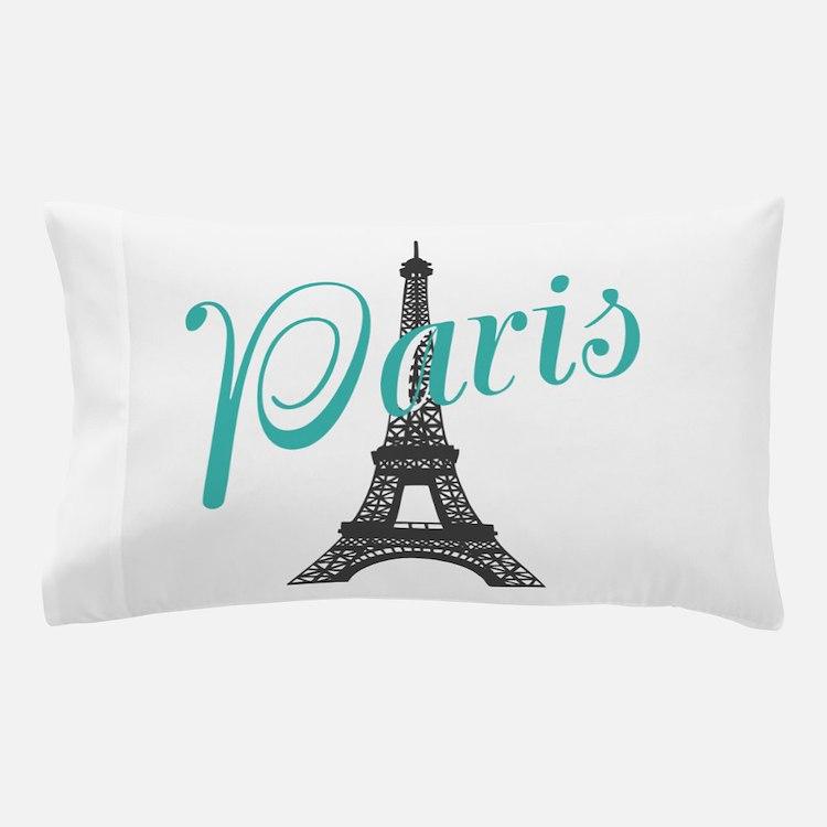 Vintage Paris Eiffel Tower Pillow Case