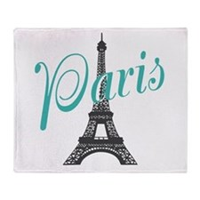 Vintage Paris Eiffel Tower Throw Blanket