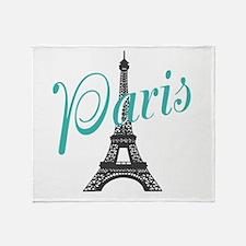 Vintage Paris Eiffel Tower Throw Blanket