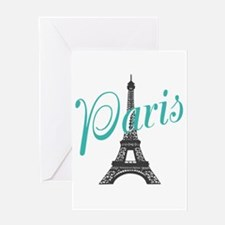 Vintage Paris Eiffel Tower Greeting Cards