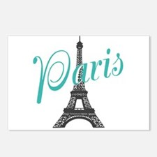 Vintage Paris Eiffel Tower Postcards (Package of 8