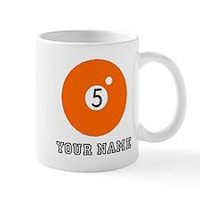 Orange Five Ball (Custom) Mugs