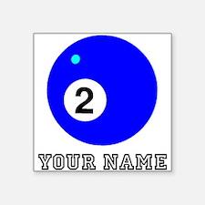 Blue Two Pool Ball (Custom) Sticker