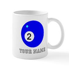 Blue Two Pool Ball (Custom) Mugs