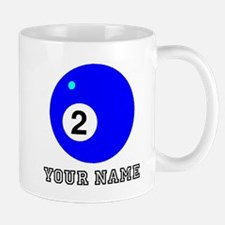 Blue Two Pool Ball (Custom) Mugs