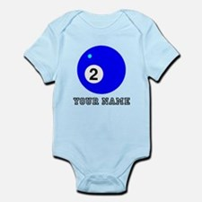 Blue Two Pool Ball (Custom) Body Suit