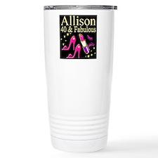 GLAMOROUS 40TH Travel Coffee Mug