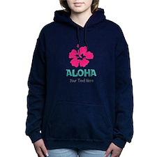 Hawaiian flower Aloha Women's Hooded Sweatshirt