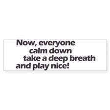 Play nice! Bumper Car Sticker